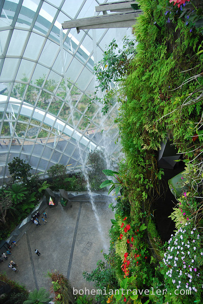 waterfall inside the Cloud Forest at Gardens by the Bay.jpg