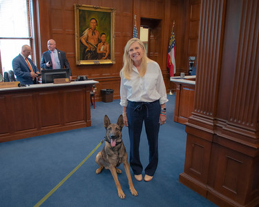 06.03.2021 First Lady Photos with K9