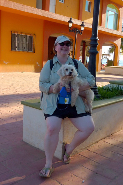 Mary and Chai in the zocalo (town square)