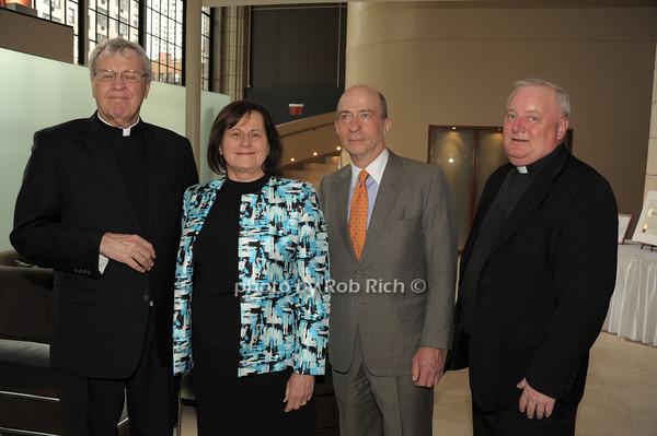 Monsignor Peter Garry, Grace Lo Grande, Dan Kurtz, Father Pat West   photo  by Rob Rich © 2014 robwayne1@aol.com 516-676-3939