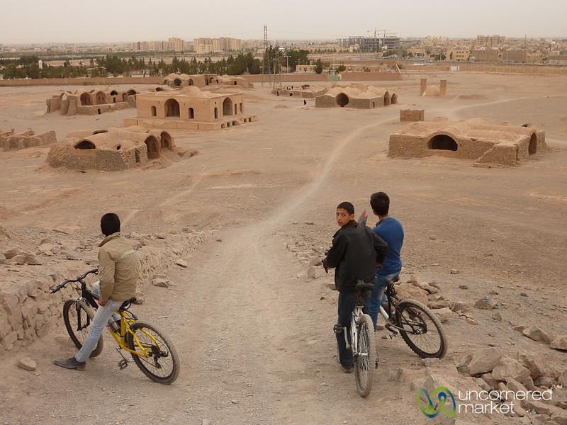 Iranian Kids on Bikes - Yazd, Iran