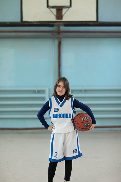 Milé. She is kind of like the team mascot or cheerleader. She is Elitsa's little sister and we love her. If she sticks with it, and I hope she does, I am thinking WNBA...