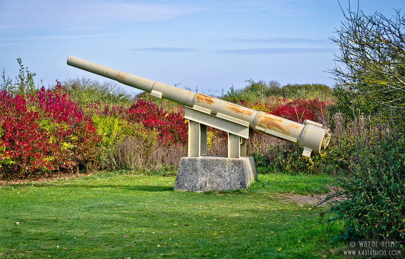 WW II Gun at Normandy   Photography by Wayne Heim