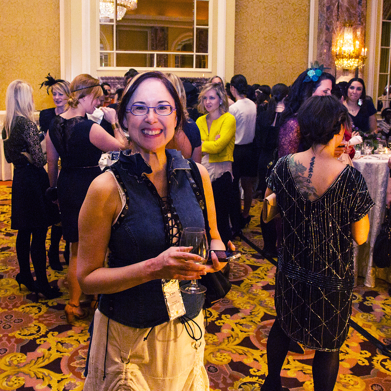 Attending the Downton Abbey Themed Opening Night Party at Alt Winter 2015 photographed by Justin Hackworth