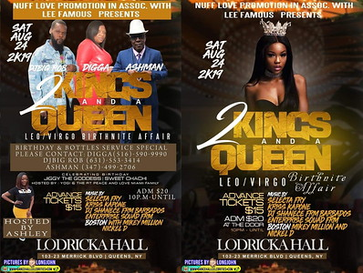 "NUFF LOVE PROMOTION W/LEE FAMOUS ""KINGS & A QUEEN 2019""(15)"