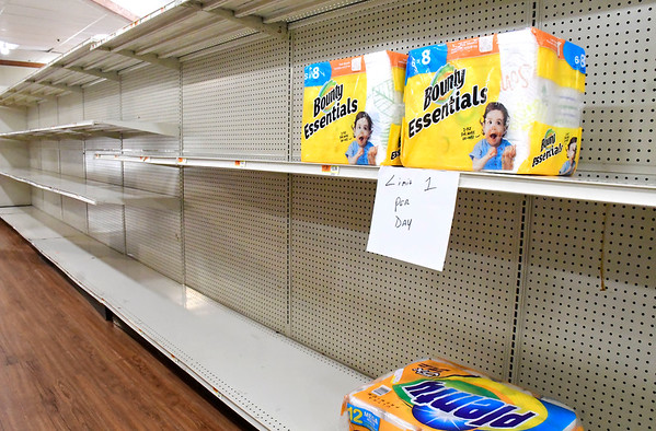 4/2/2020 Mike Orazzi | Staff Gnazzo's Food Center in Plainville on Thursday.