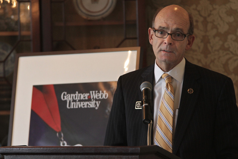 Dr. Frank Bonner, President of Gardner-Webb University, concluded the Executive Breakfast with remarks.