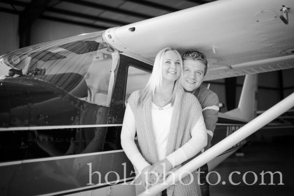Katie & Ashton B/W Engagement Photos