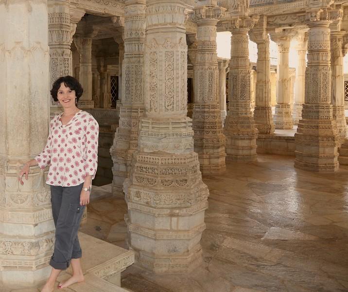 One last shot of me and my pillars!! - Ranakpur Jain Temple