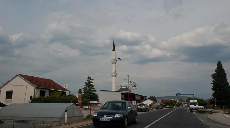 Driving through a Bosnian village
