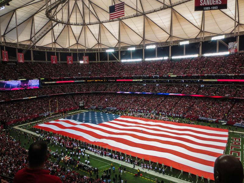 American Flag - Georgia Dome