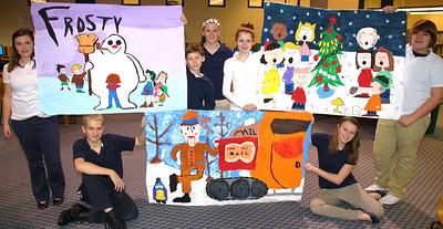 Christmas Mural Posters, Tamaqua Middle School, Tamaqua (11-30-2011)