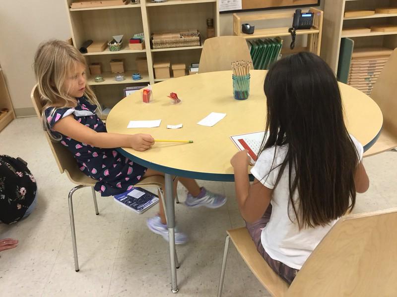 Montessori 1st Grade fall 2018
