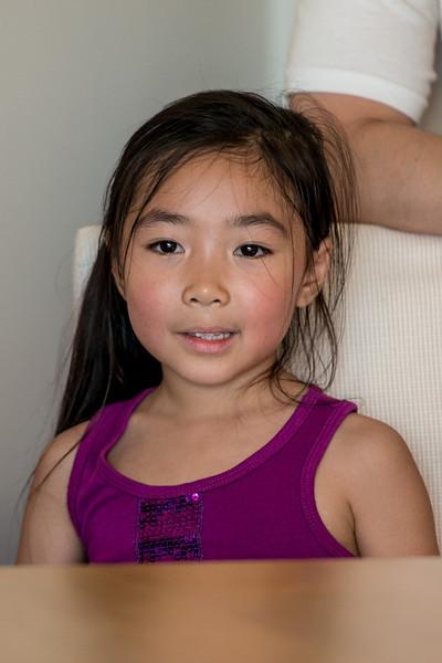 2012 July: Vanessa Rebecca visit, D800 macro, Yuna smiles