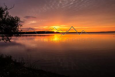 Sunrise in northern Michigan