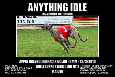 Appin Greyhounds - 13th March 2010
