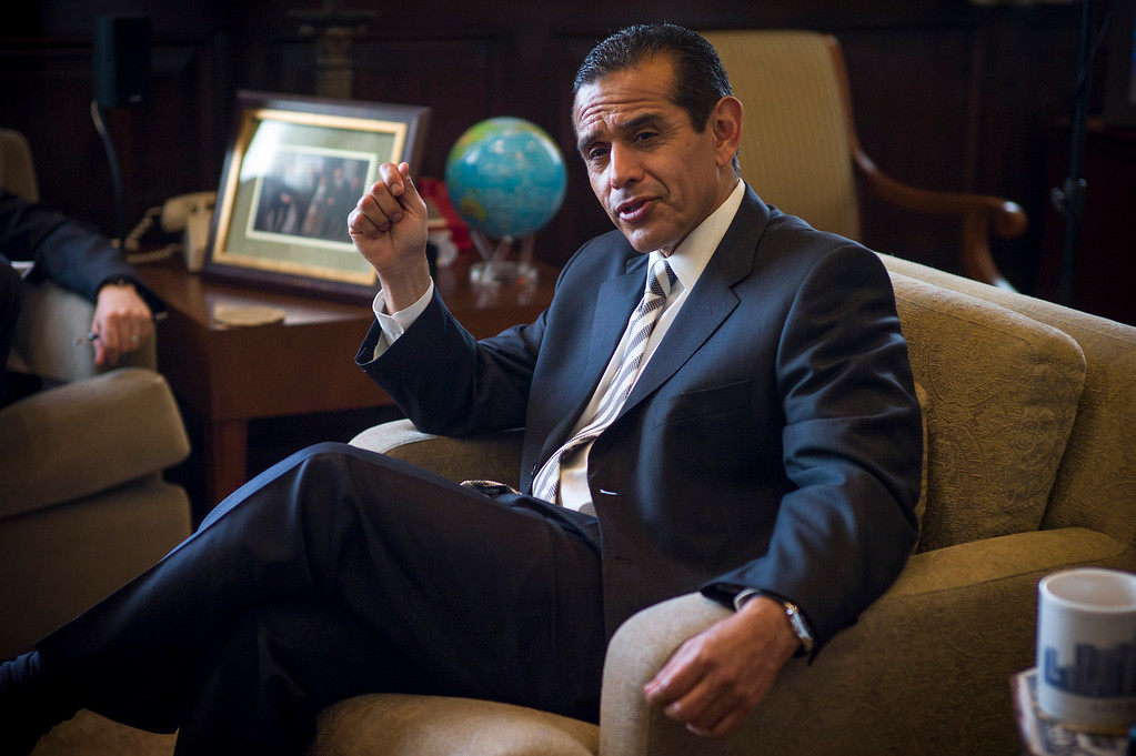 . Los Angeles Mayor Antonio Villaraigosa talks about his goals for his final year in office. (David Crane/L.A. Daily News)