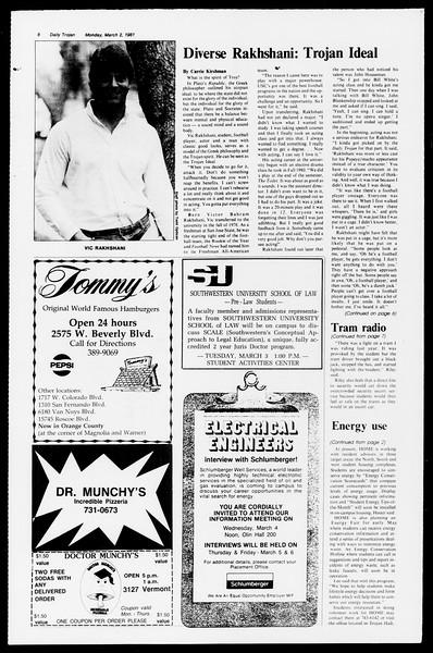 Daily Trojan, Vol. 90, No. 18, March 02, 1981