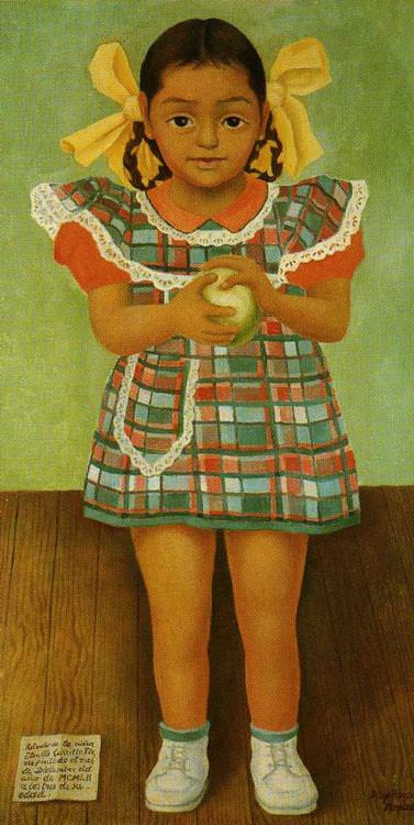 "Diego Rivera, ""Portrait of the Young Girl Elenita Carrillo Flores"" (1952)"