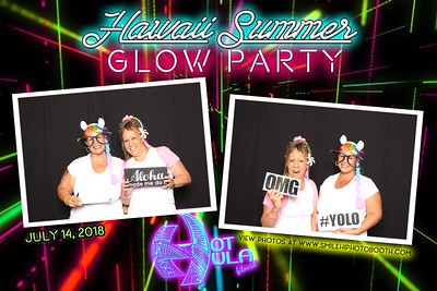 Hot Hula Glow party 2018