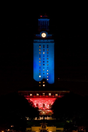 The Many Colors of the UT Tower