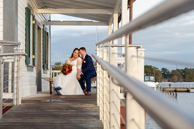 Lauren & Marc's Autumnal Splendor Wedding at the Inner Banks Inn in Edenton
