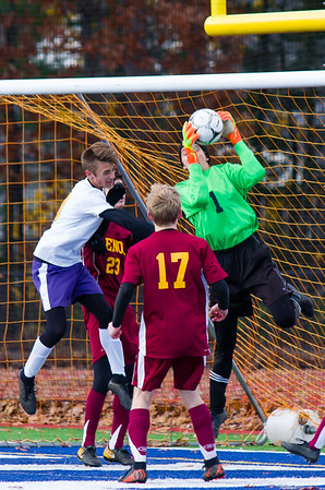 Lenox boys soccer vs. Westfield Tech in Western Mass D-IV finals - 111018