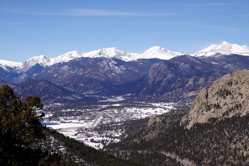 Estes Park from above...