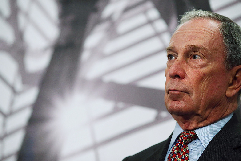 . Former New York Mayor Michael Bloomberg speaks at a news conference at the September 11 Memorial Museum before a press tour on May 14, 2014 in New York City. (Photo by Spencer Platt/Getty Images)