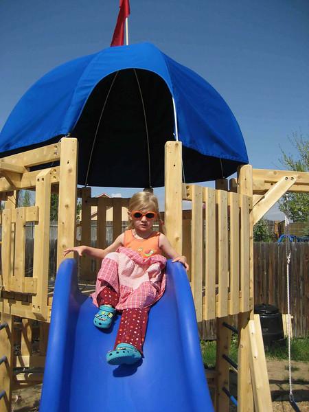 Bella on top of slide...jpg