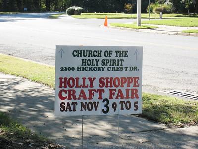 Holly Shoppe Craft Fair 11/3/07