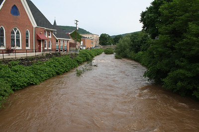 Water Level, Little Schuylkill River, Tamaqua (5-27-2012)