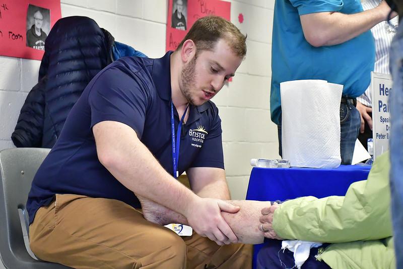 4/6/2019 Mike Orazzi | Staff Bristol Health's Peter Bellezza during the 5th Annual Connecticut Prime Time Senior Fair Saturday at Bristol Eastern High School.