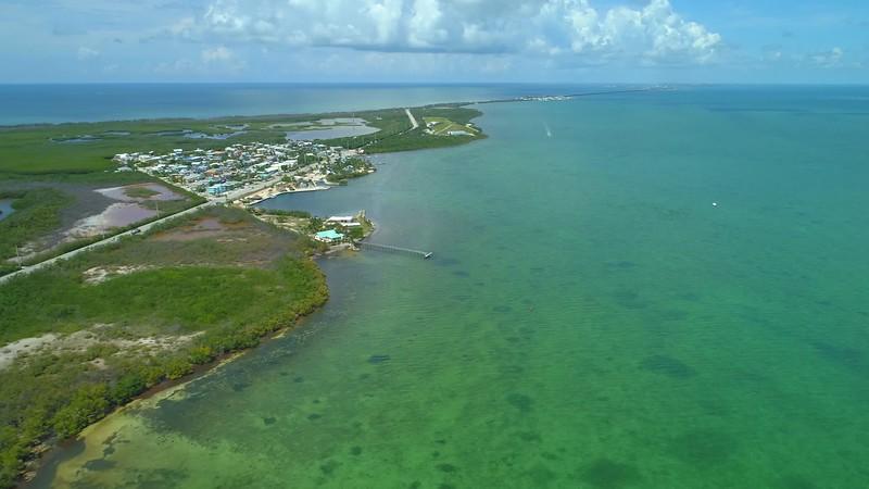 Aerial Overseas Highway Long Key Florida