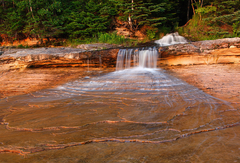 Elliot Creek Falls - Miners Beach (Pictured Rocks National Lakeshore)