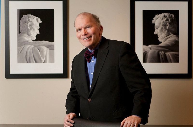 Portrait for Leaders in the Law profile story.  (Photo by Mark Bialek)