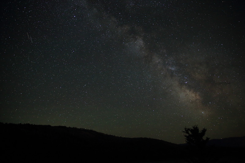 Milky Way above the Teton foothills - near Victor, ID
