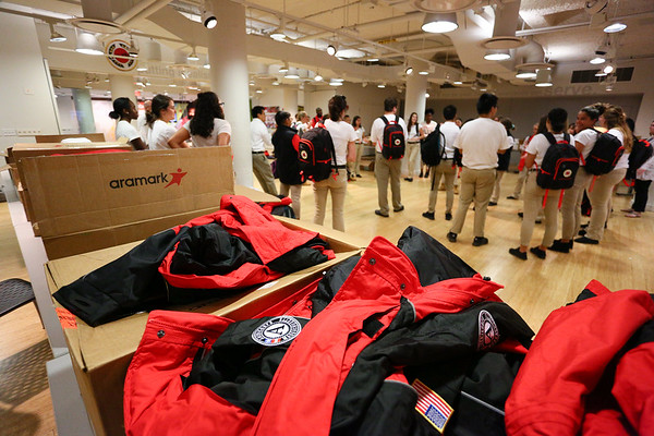 City Year Boston Gets Their Uniforms!