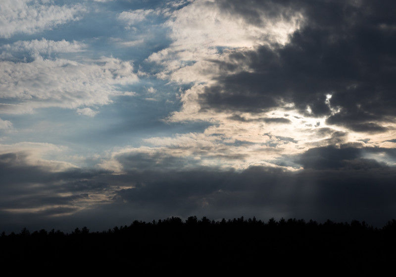 Sun breaking out of the clouds