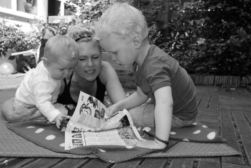 Family portrait: Saskia and the Kids
