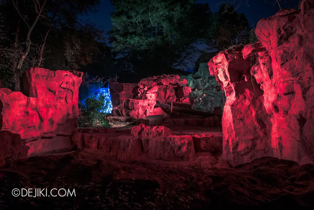 Singapore Zoo Rainforest Lumina - Call of the Wild empty enclosures