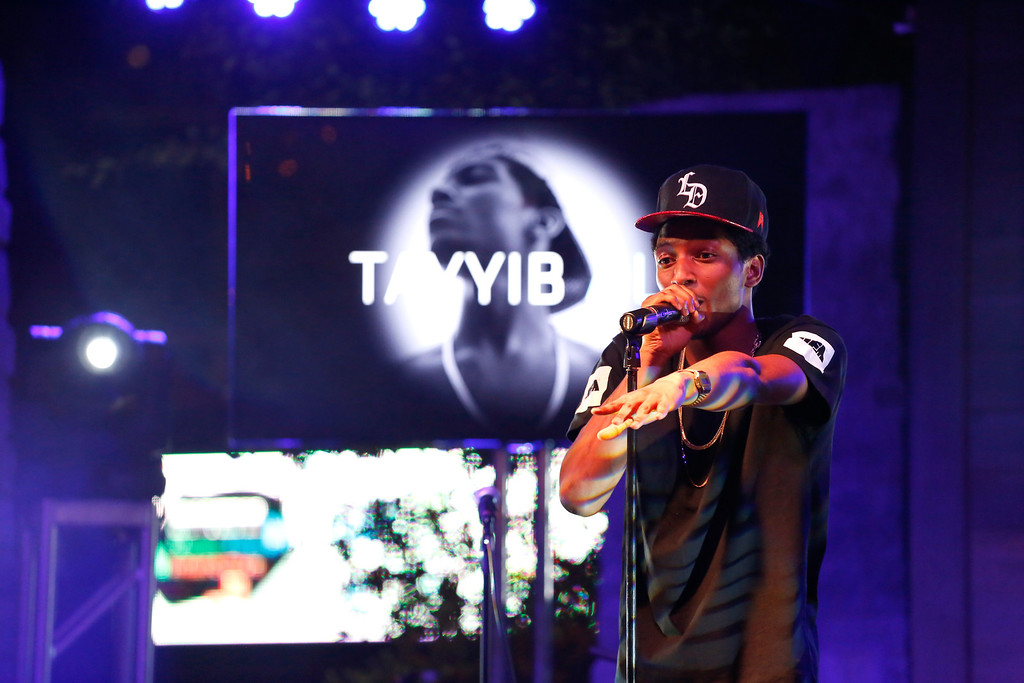 . Rapper Tayyib Ali performs at the All Def Digital (ADD) and All Def Music with Samsung launch of ADD52 at SXSW on March 11, 2014 in Austin, Texas.  (Photo by Rick Kern/Getty Images for Samsung)