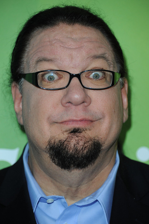. Penn Jillette attends the NBC Universal Winter TCA Tour at the Langham Huntington Hotel, Sunday, Jan. 6, 2013, in Pasadena, Calif. (Photo by Richard Shotwell/Invision/AP)