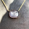 'INV My Letter' Pale Pink Glass Rebus Pendant, by Seal & Scribe 32