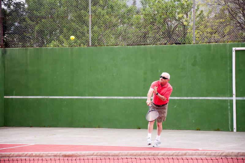 The Villa also had a tennis court.