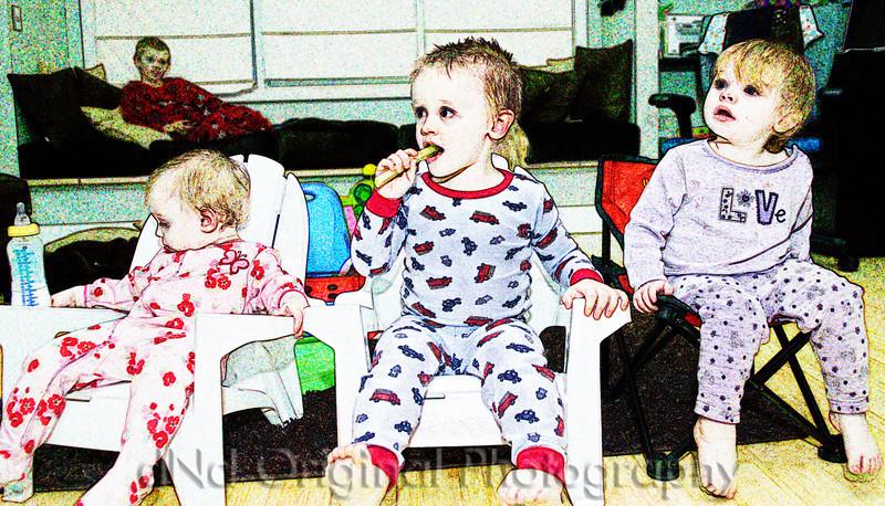 062 Nicol T-Day 2007 - Brielle, Ian, Ally In Kid Chairs crop (flourescent chalk).jpg