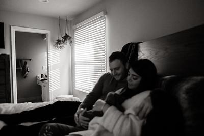 Winter Newborn Photos at Home | Niko