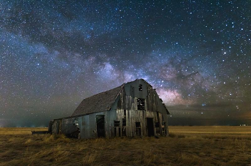 Milky Way Over Barn