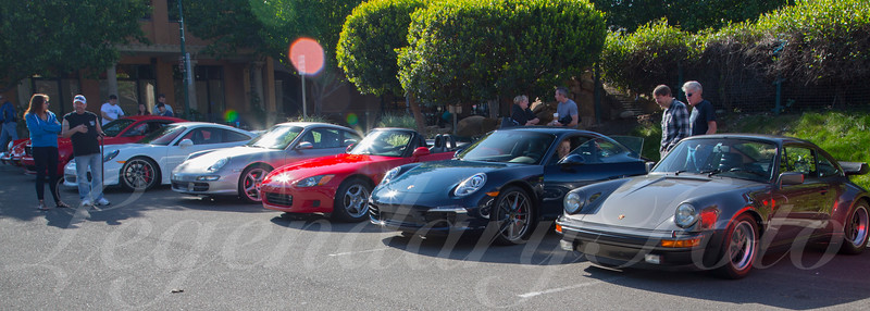 Porsche Club at Cars and Coffee April 2015