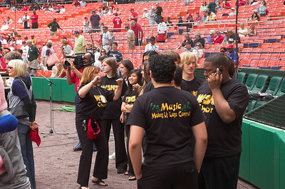 Singers at Nationals Game